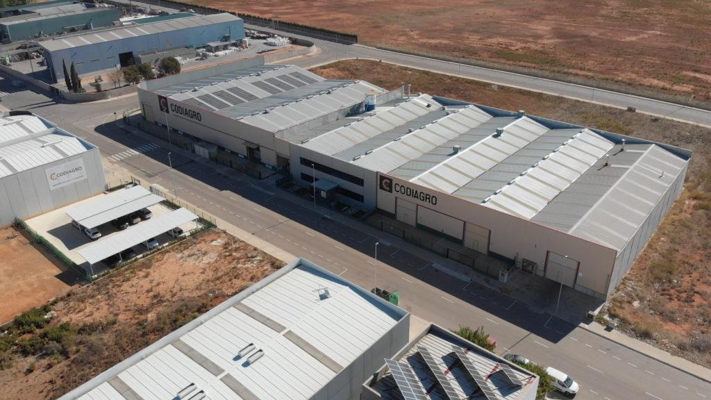 Imagen aérea de la fábrica Codiagro