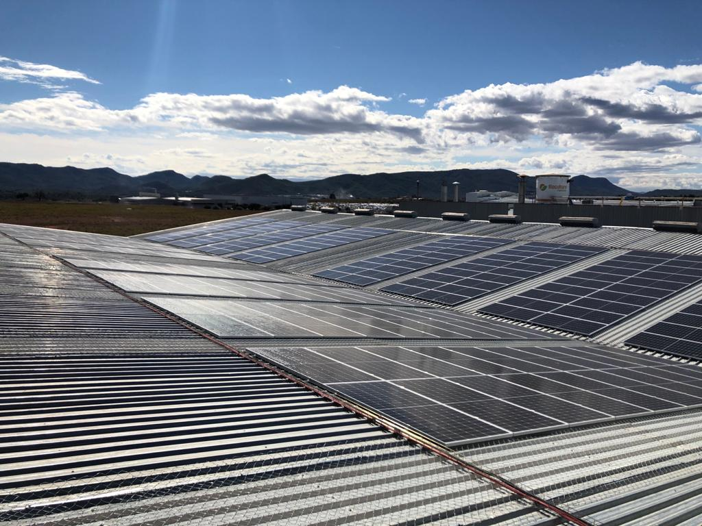 Placas solares techo planta Codiagro